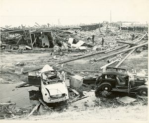 The aftermath of the 1944 Port Chicago disaster. Photo courtesy of the National Park Service.